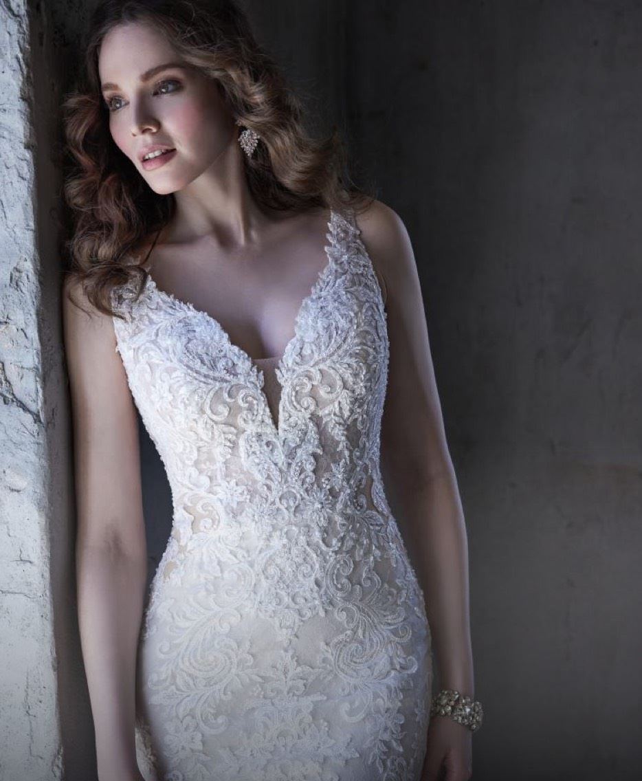 Model in Maggie Sottero dress